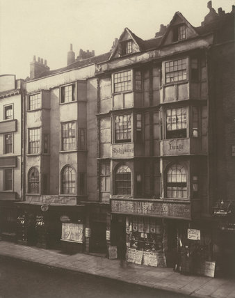 Old houses in Aldersgate Street, 1879.