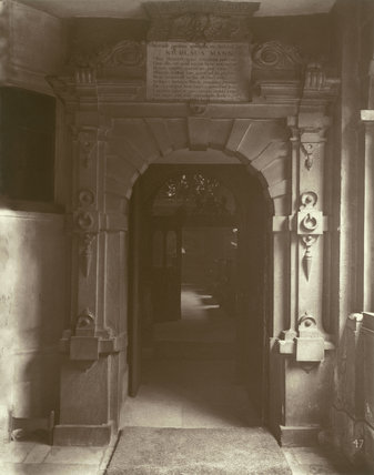 Charterhouse, entrance to the Chapel: 1880