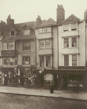 Old houses in Borough High Street:1881