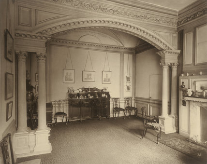 Ashburnham House, dining room: 1882