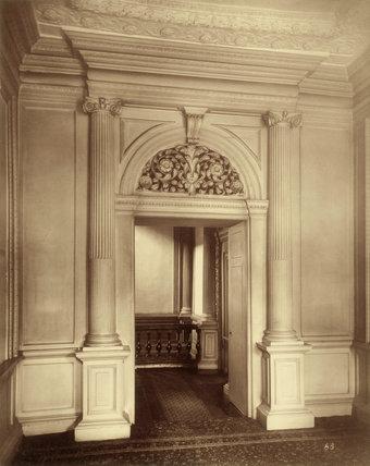 Ashburnham House, anteroom: 1882