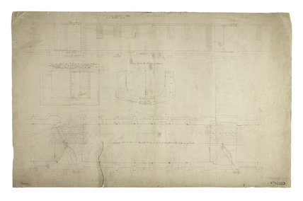 A plan showing design details of a Lock in The London Docks: c.1800