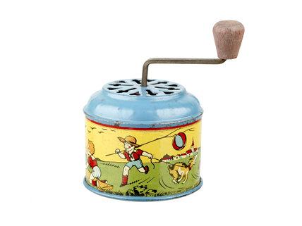 Toy metal circular musical top; 1950-1955