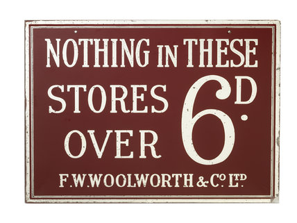 Nothing In These Stores Over 6d; 1921- 1930