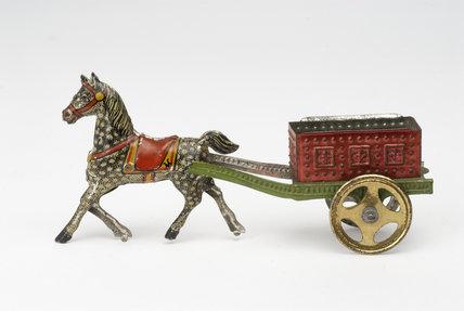 Tinplate toy horse; c.1910