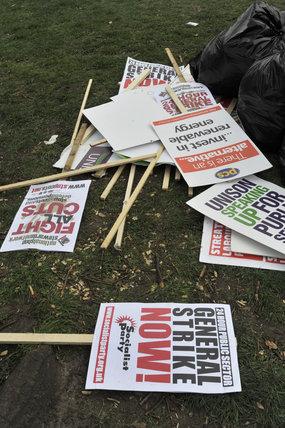 March for the Alternative , anti-cuts protest; 2011