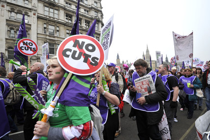March for the Alternative , anti-cuts protest; 2011