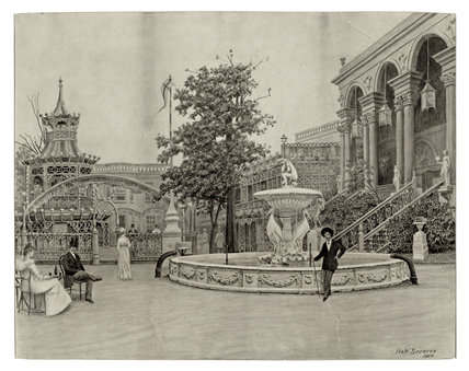 The Dancing Platform, Cremorne Gardens: 1866