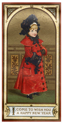 Victorian Christmas Card: c.1890
