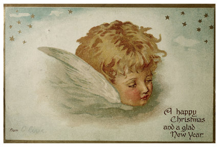 Edwardian Christmas Card; 1907