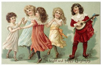 Victorian Christmas Card: 1890