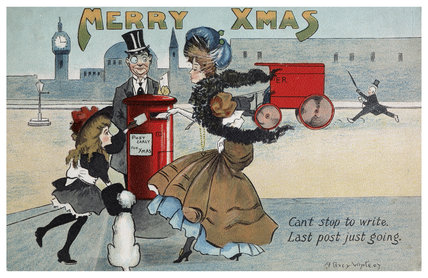 Edwardian Christmas Card, c.1905
