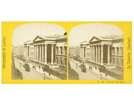 Stereo card view of the General Post Office: c.1865