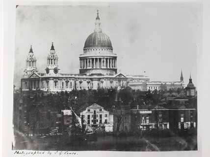 View Across the Thames to St Paul's Cathedral; c.1850
