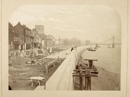 Chelsea Embankment looking East: c.1872