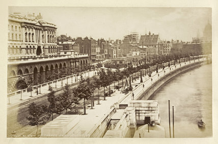 View of Thames Embankment; c 1880