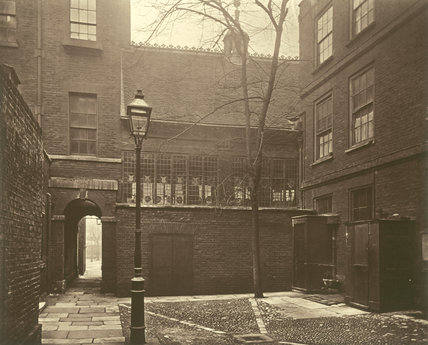 Barnard's Inn - the Inner Courtyard; c.1879