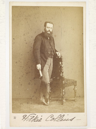 The novelist Wilkie Collins; c 1860