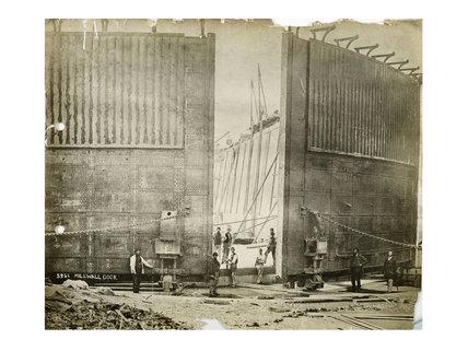 Millwall Dock entrance, 1867