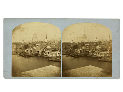 View of St. Paul's from the River Thames; 1855-1865