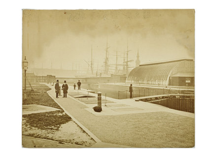Shadwell Pierhead, London Docks: 1879