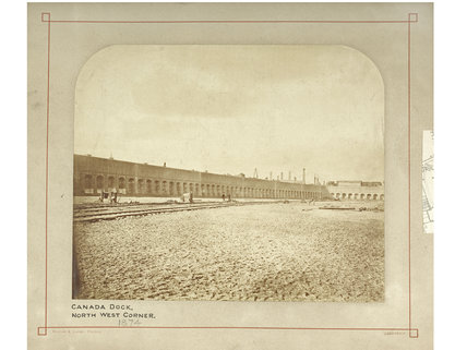 Canada Dock in The Surrey Commercial Docks: c.1880