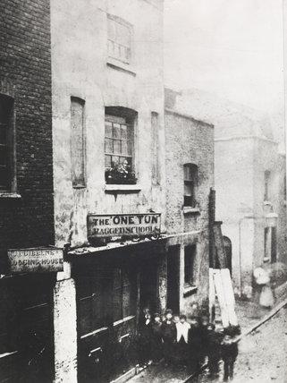 The One Tun Ragged School, Perkins Rents, c.1870