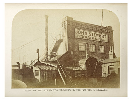 Stewarts Blackwall Ironworks, c.1863