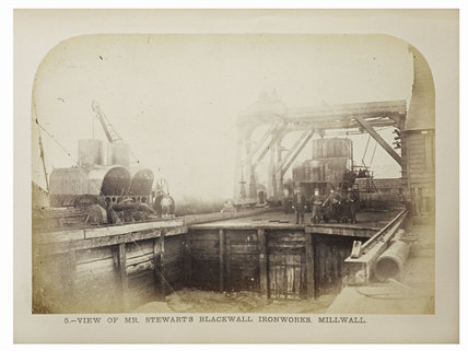 Stewarts Blackwall Ironworks, Millwall: 1863