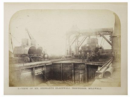 Stewarts Blackwall Ironworks, Millwall: 1863