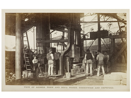 Scrap forge at Messrs Penn & Sons works, 1863