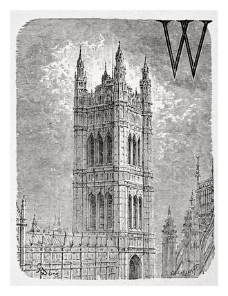 Victoria tower: 1872