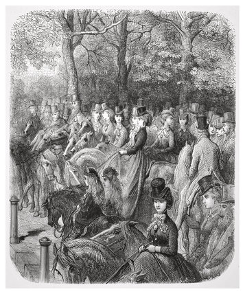 Hyde Park Corner - the Row: 1872