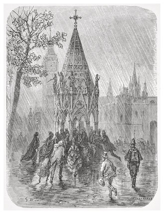 The fountain - broad sanctuary: 1872