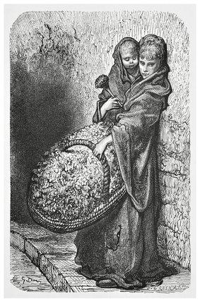 A flower girl: 1872