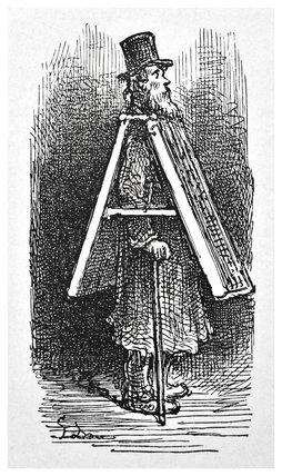 Advertising boardman: 1872