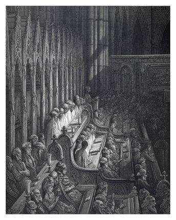 Westminster abbey - the choir: 1872