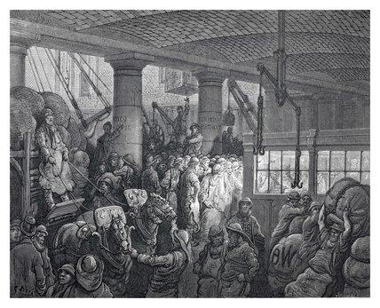 St Katherine's docks: 1872