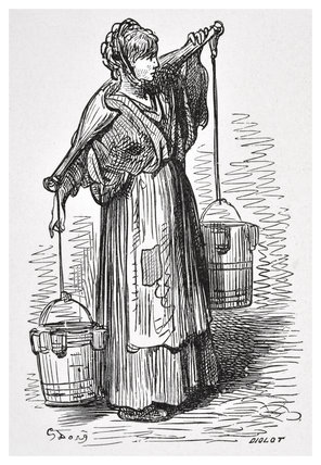 The milkwoman: 1872