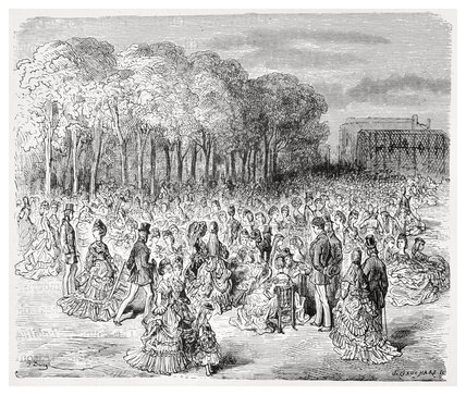 Zoological Gardens - Sunday promenade: 1872