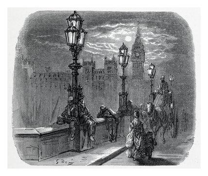 Victoria embankment: 1872