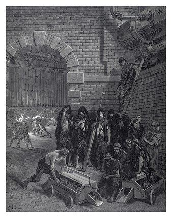 Lambeth gas works: 1872