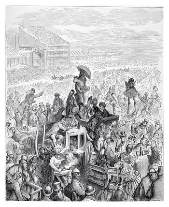 The Derby, at lunch: 1872