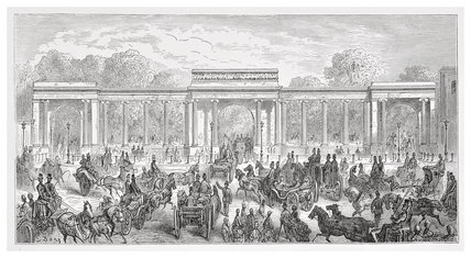 Hyde Park Corner - Piccadilly entrance: 1872