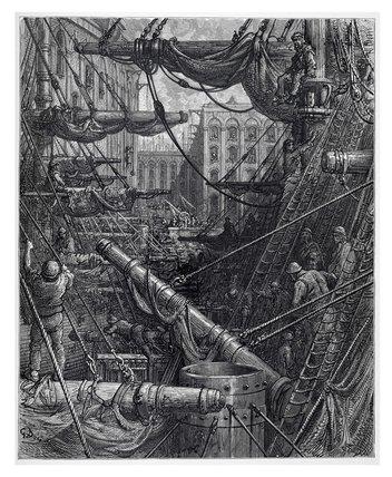 Inside the docks: 1872