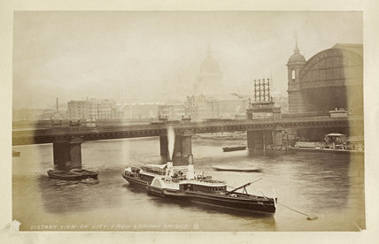 View of City from London Bridge;c.1880