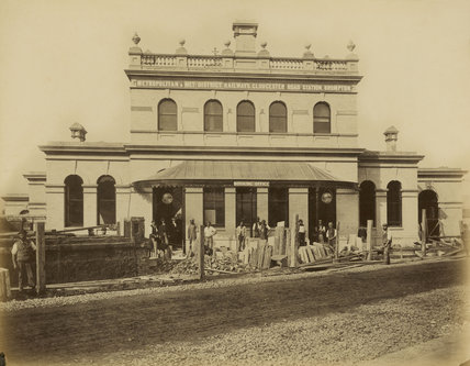 Exterior of the completed Gloucester Road Station; 1868