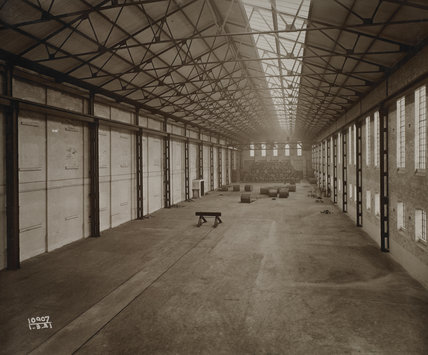 Interior  of a warehouse: 1921