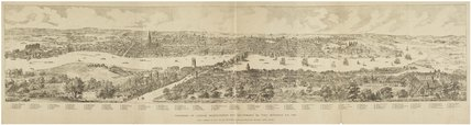 Facsimile of Panorama of London in 1543: 1881