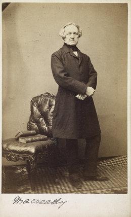 Portrait of  William Charles Macready; 1865